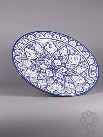 keramikfat blått