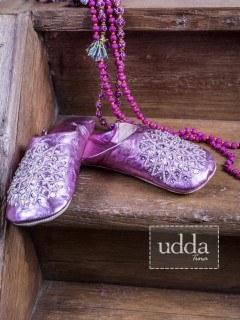 Innetofflor; Dam; metallic Rosa; Pink