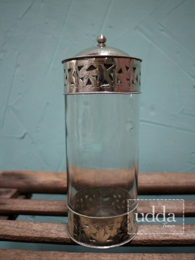 Marockansk Glasburk - Silver Stor