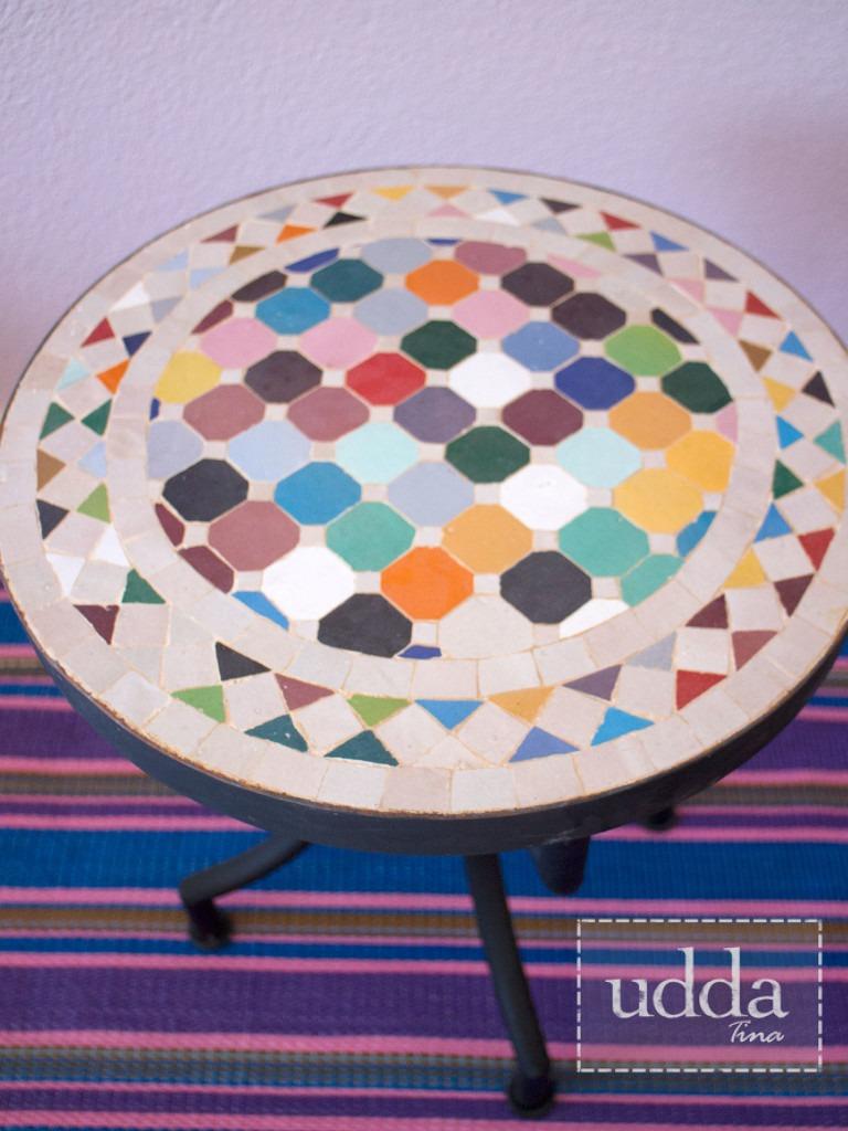 Mosaik Bordsskiva - Rund Multi 40cm