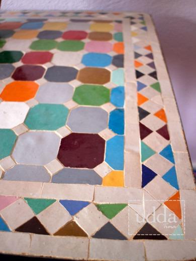 Mosaik Bordsskiva - Kvadratiskt Multi 60cm