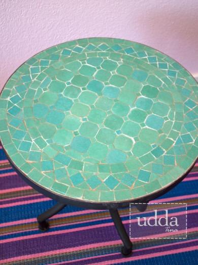 Mosaik Bordsskiva - Rund Ocean Mix 40cm