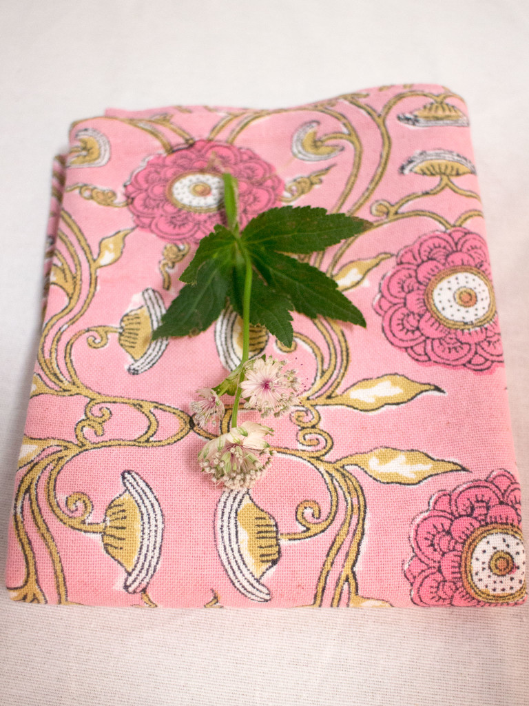 Bungalow kökshandduk - Ringblomma Rosa 50x70 cm