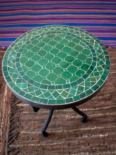 mosaikbordgrönt