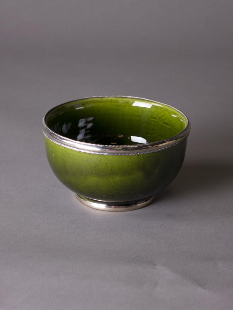 Skål Rif Design - Silverkant Grön 13cm