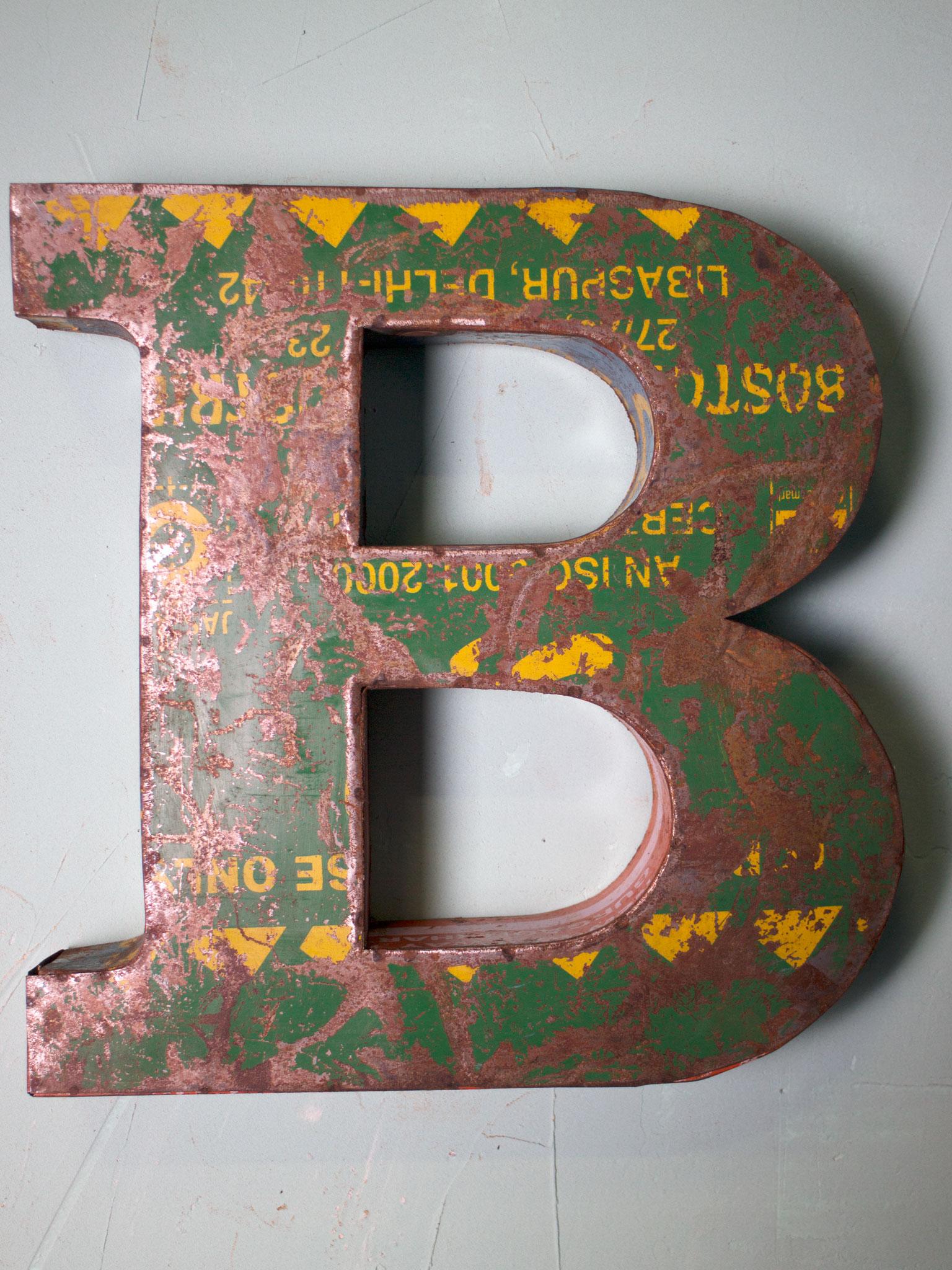 Plåtbokstav - B