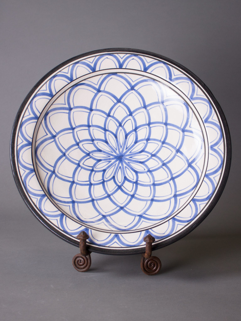 Keramikfat Rif Design – Blå Magrib 35cm