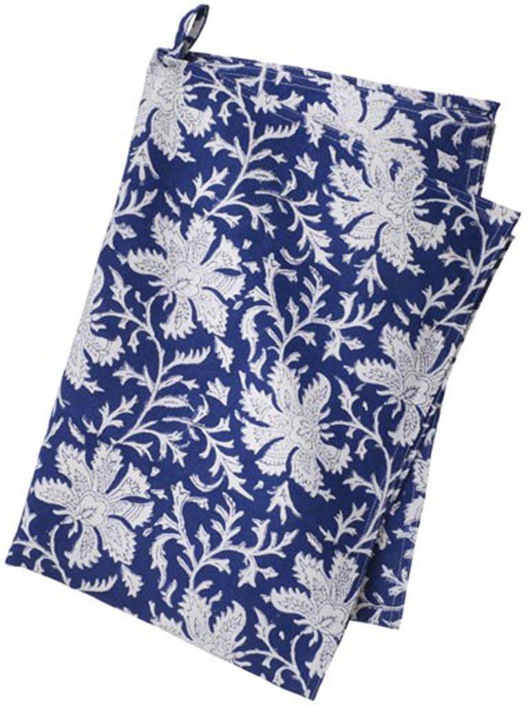 Bungalow kökshandduk - Vildblomma Blå 50x70 cm