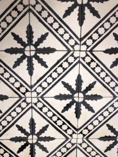 Marockanskt kakel - Medina Svart/Vit