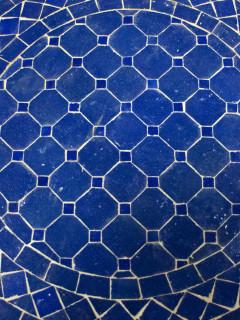 Mosaikbord - Rund Marin