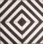 Marockanskt kakel - Diagonal Svart/Vit