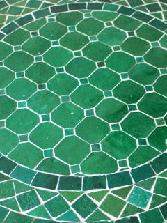 Mosaikbord - Grönt