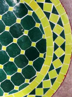 Mosaikbord - Grön/Lime
