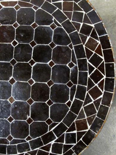 Mosaikbord - Mörk Choklad