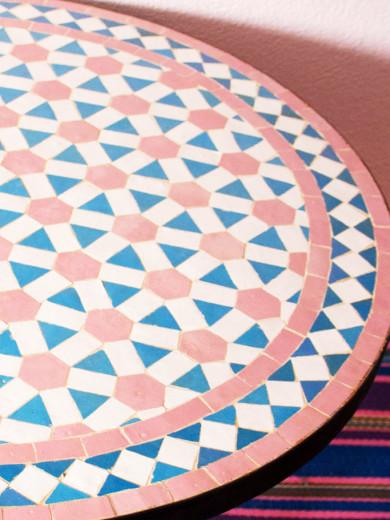 Mosaikbord - Rosa/Turkos Mix
