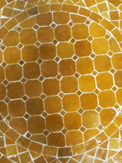 Mosaikbord - Senap