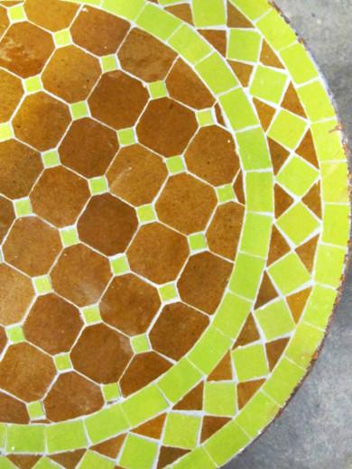 Mosaikbord - Senap/Lime