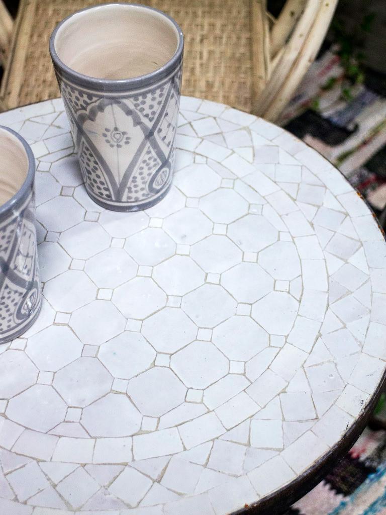 Mosaikbord - Vit