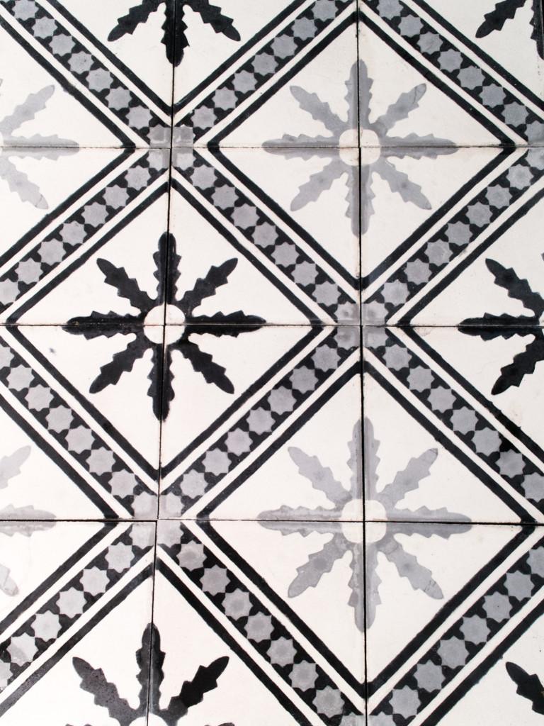 Marockanskt kakel - Corint Svart/Grå/Vit
