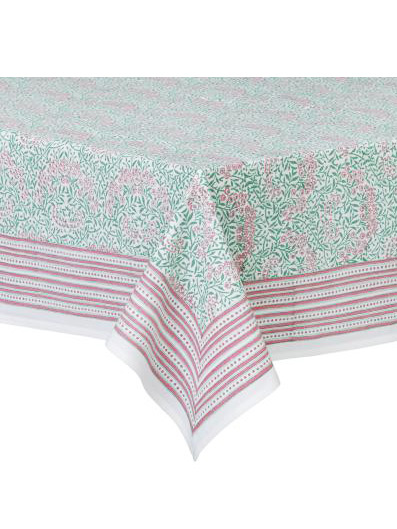 Bungalow Duk - Morris Green-Pink 120x160cm