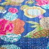 Överkast Flower - Dubbel Blå