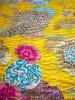 Överkast Flower - Enkelt Gul