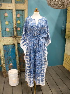 Kaftan Anokhi - Flowersome Blue