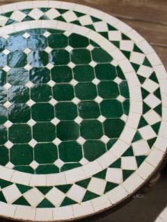 Mosaikbord - Grön/Vit