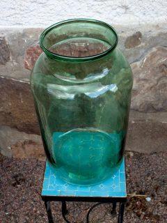 Glasbehåll Grön stor framifrån