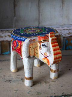 elefant vit blå röd